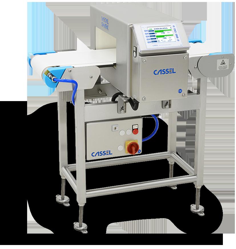 metal detector cassel per controllo qualità in linea di produzione