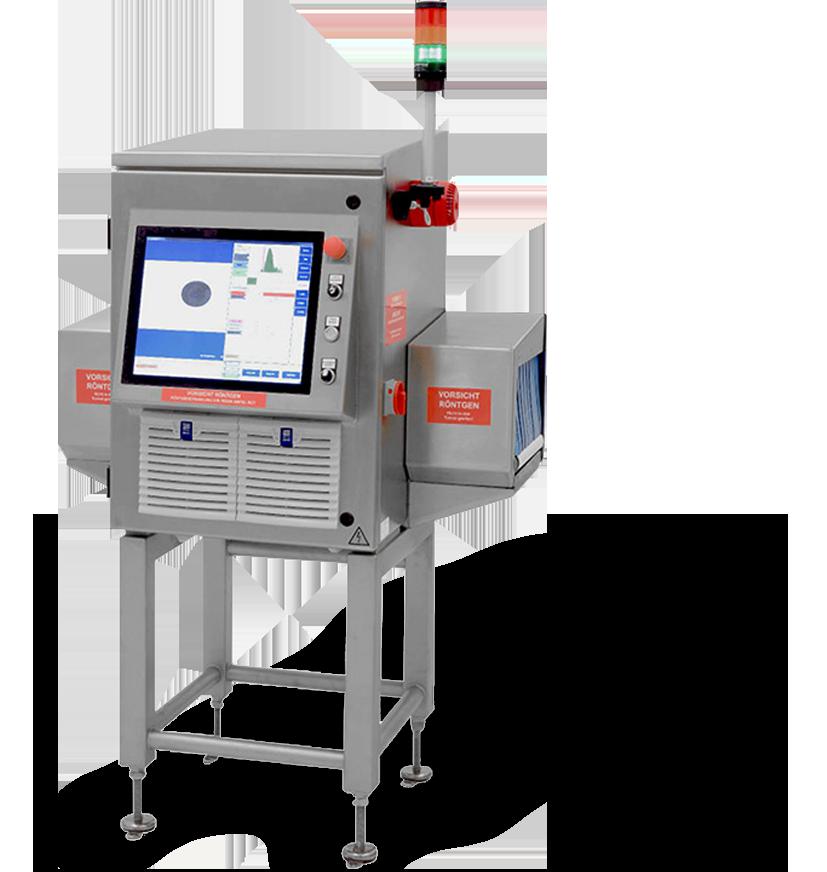 macchina a raggi x per controllo qualità in linea di produzione